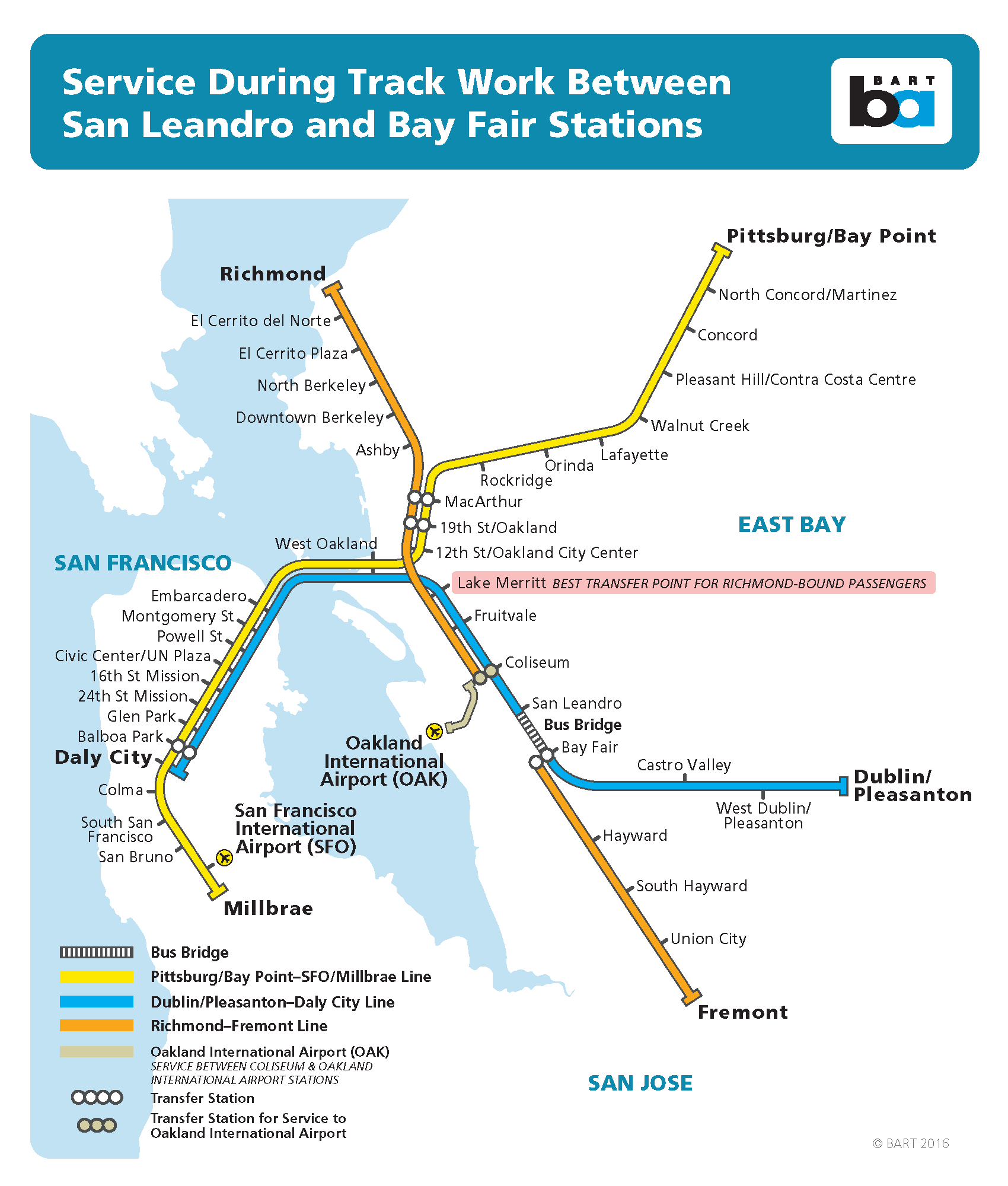 bart will be closing regular train service between the san leandro and bayfair stations to perform necessary track maintenance on several weekendsbetween . san leandro to bay fair bart weekend closure march through june