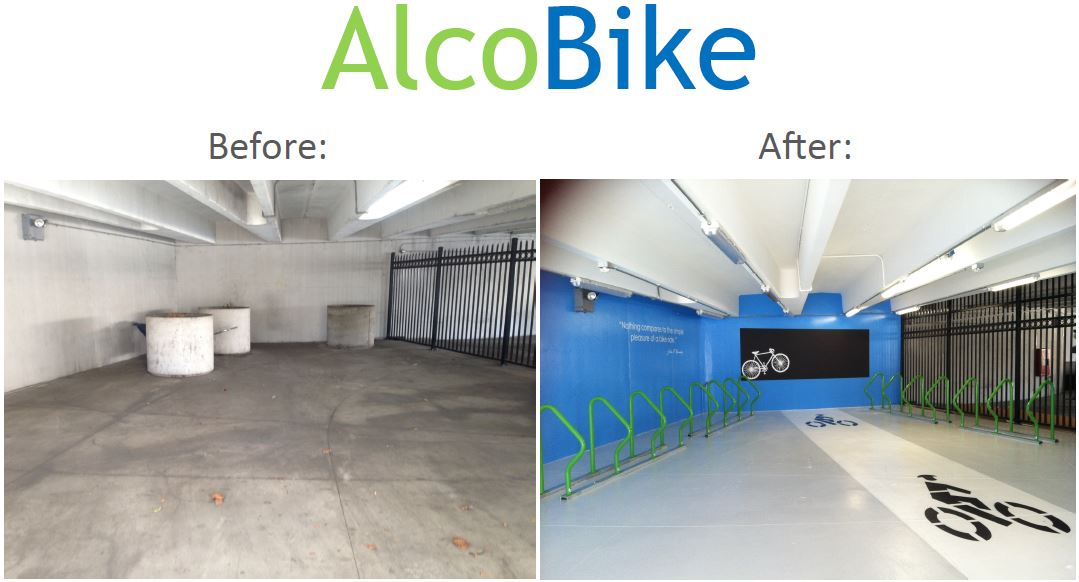 Take A Look At This Before And After Shot From New Bike Room Installed By Alameda Countys General Services Agency
