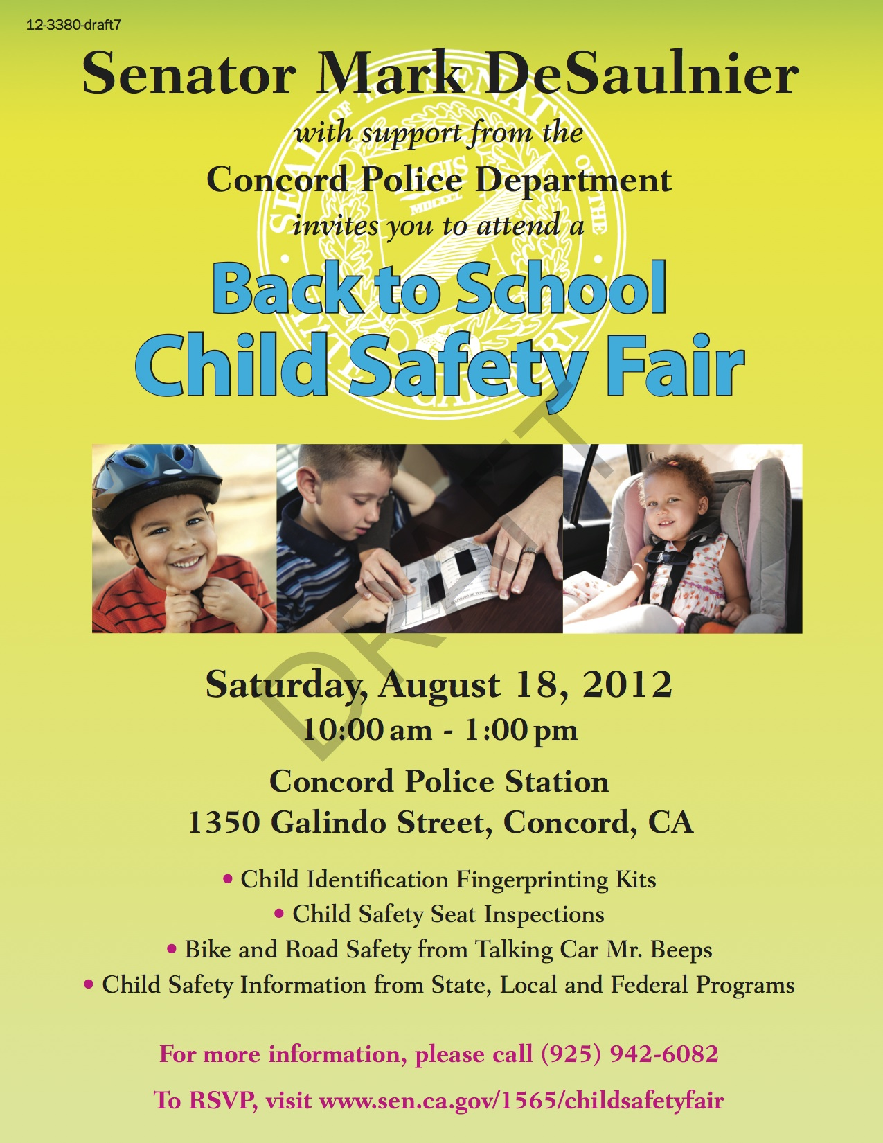 Back To School Child Safety Fair Concord Bike East Bay