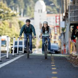 Berkeley Mayor Celebrates New Protected Bike Lanes with Ribbon Cutting
