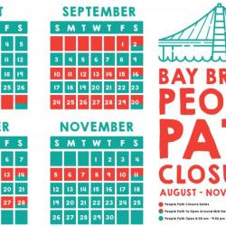 Bay Bridge Path Closed Every Other Week this Fall