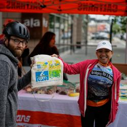 Thousands Ride on Bike to Work Day