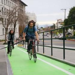 Buses and Bikes Play Nice on Hearst Avenue