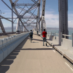 Bike Path, Not Car Lane on Richmond-San Rafael Bridge