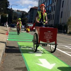 Sunday Streets Pop Up Protected Lane a Hit