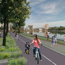 Spectacular Protected Bike Lanes Coming to Lake Merritt