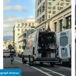 Oakland's Telegraph Protected Bike Lanes at Risk for Removal