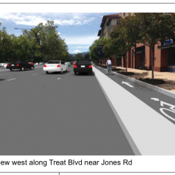 County Secures Extra Funding to Study Protected Bike Lanes on Treat Blvd