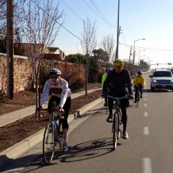 EBBC members enjoy beautiful day in Union City scoping bikeways