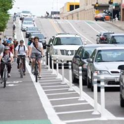 California Blvd Protected Bike Lanes at Transportation Commission
