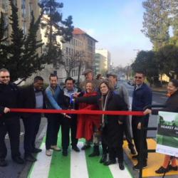 Hearst Avenue Protected Bike Lanes Open